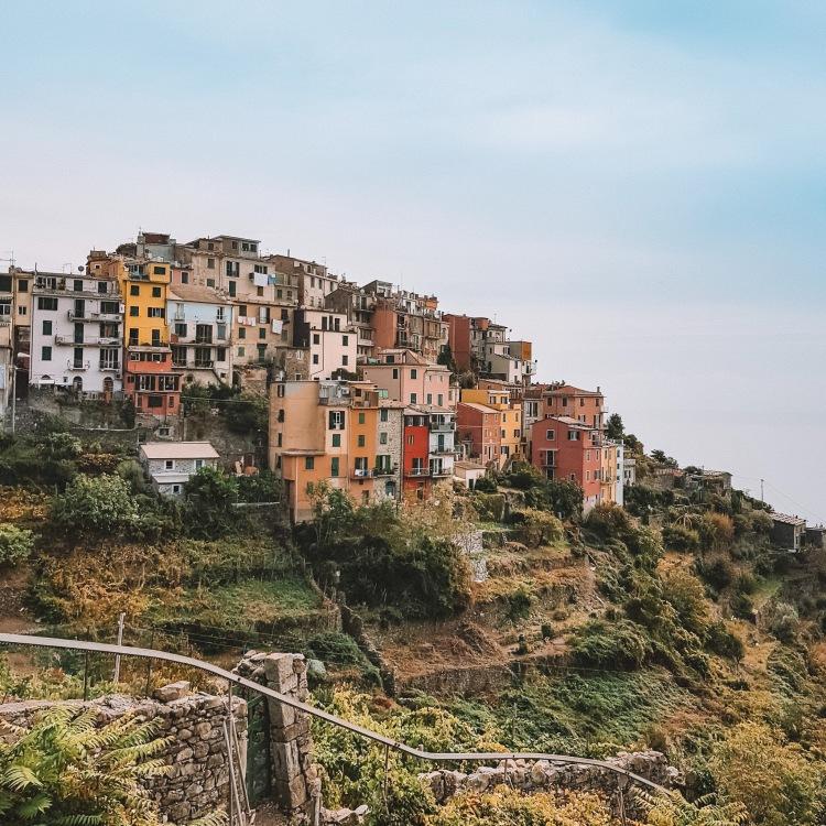 View of Corniglia in Cinque Terre, Italy