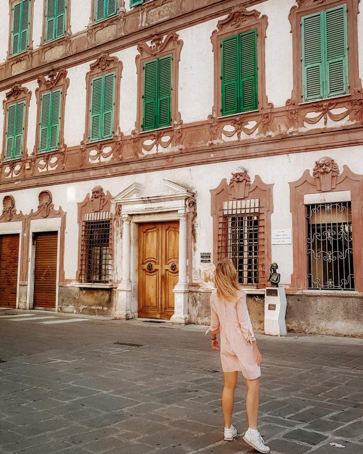 Architecture of La Spezia in Italy