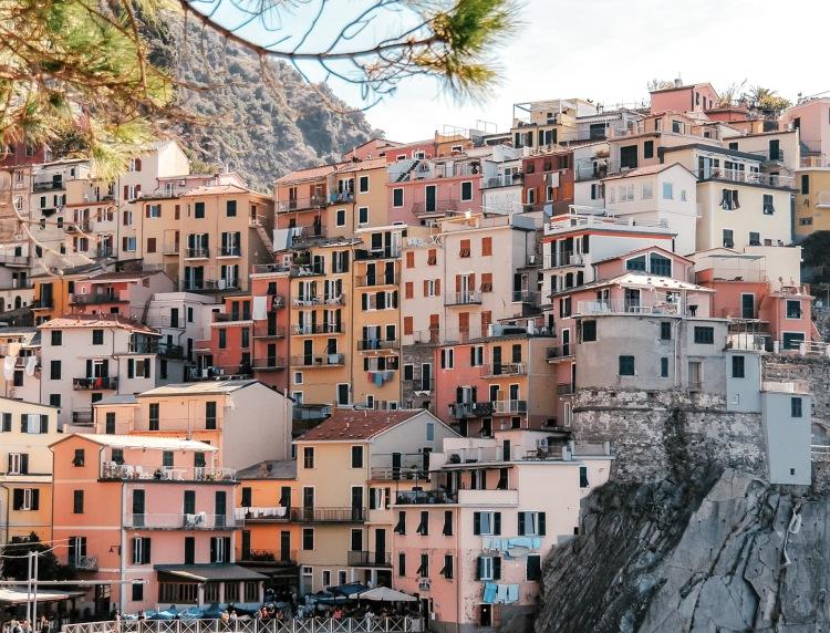 View of Manarola in Cinque Terre, Italy