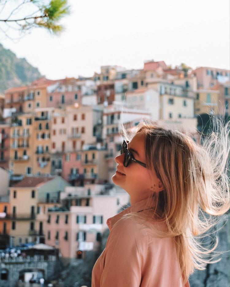 Close view of Manarola in Cinque Terre, Italy