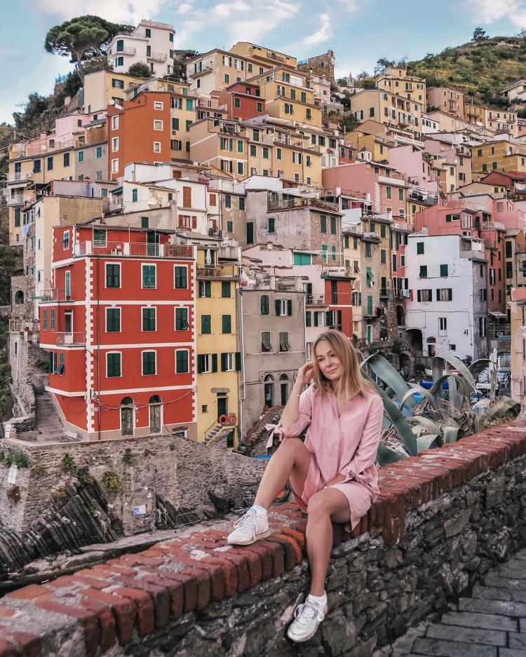 The best place for Instagram picture in Riomaggiore, Cinque Terre, Italy