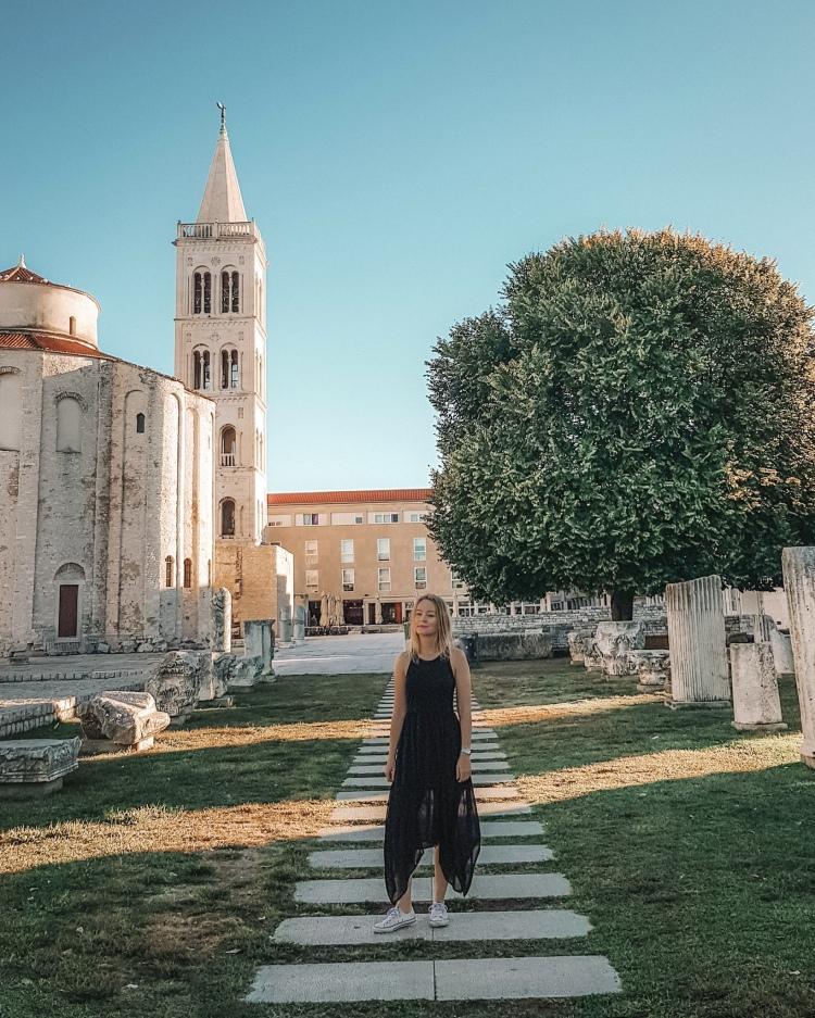 The Roman Forum in Zadar, Croatia