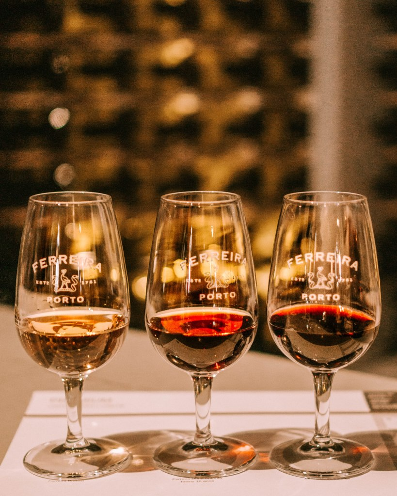 Port wine tasting in Ferreira winery in Porto, Portugal