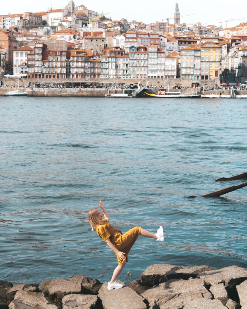 View of Ribeira in Porto, Portugal