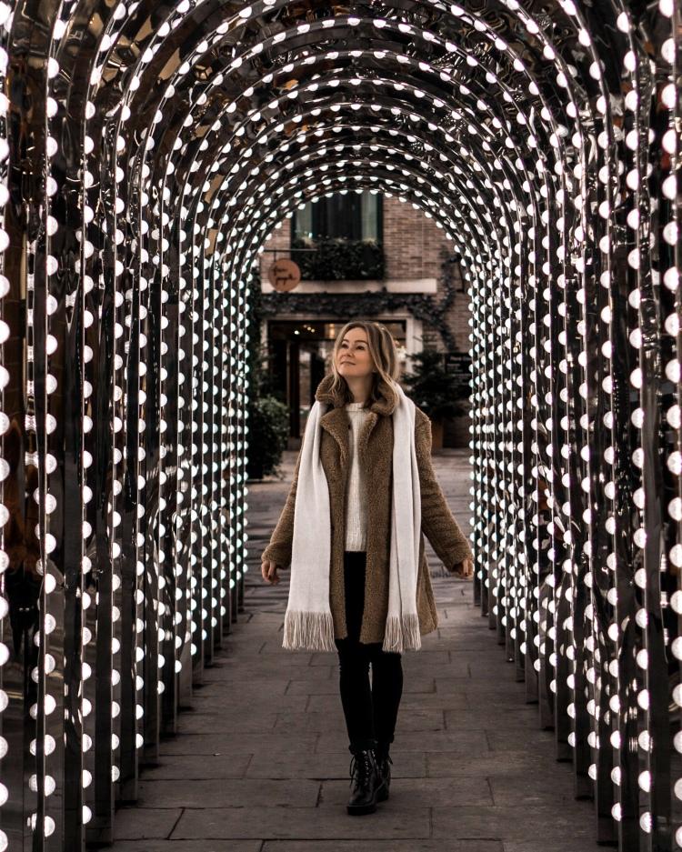 Covent Garden Infinity Chamber - light tunnel in Covent Garden, London