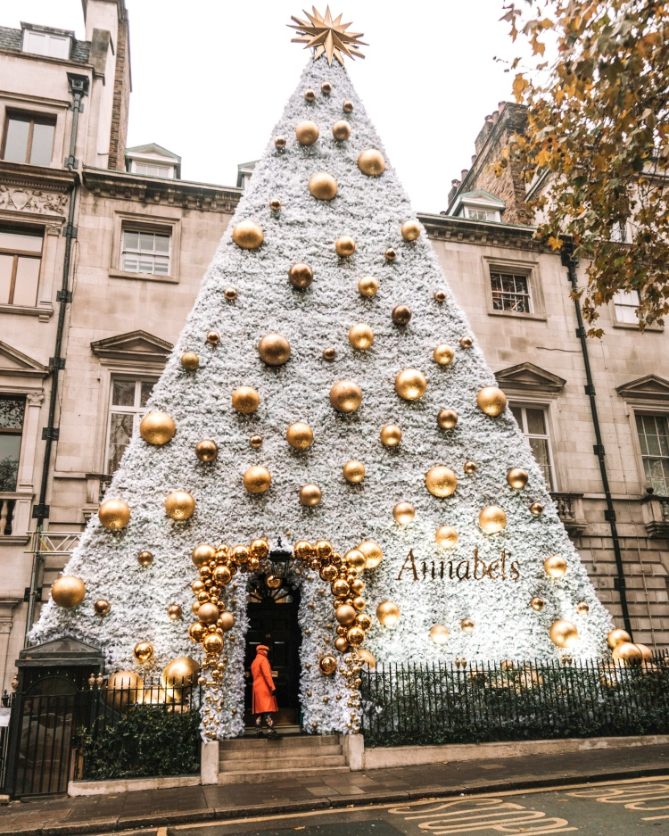 Christmas decoration at Annabel's Mayfair in London