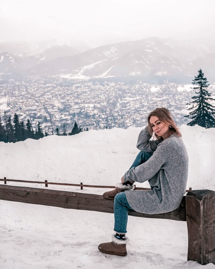 View from Gubalowka, Zakopane in winter