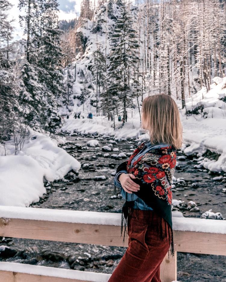 Stream in Koscieliska Valley, Polish Tatra Mountains in Winter
