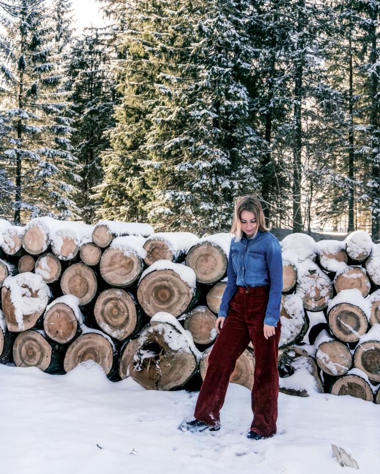 Koscieliska Valley in Polish Tatra Mountains in Winter