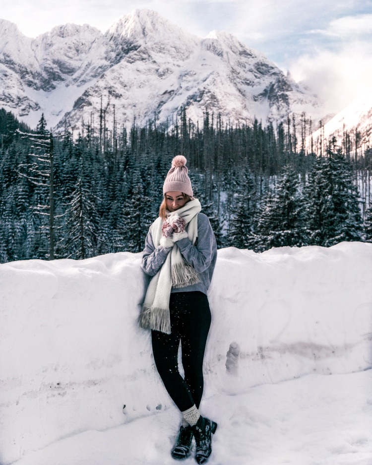 On the road to Morskie Oko, Polish Tatra Mountains in Winter