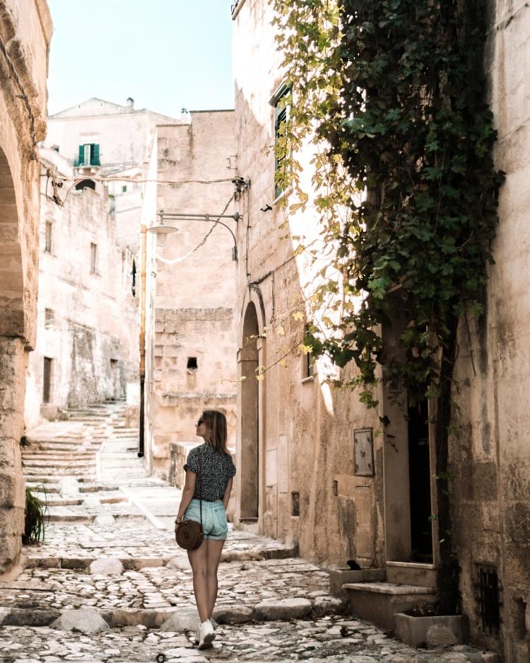 Narrow alleys in Matera, Italy