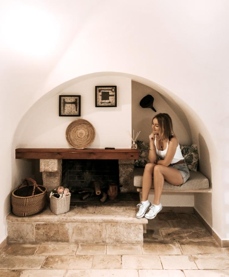 Inside of trullo in Alberobello, Puglia, Italy