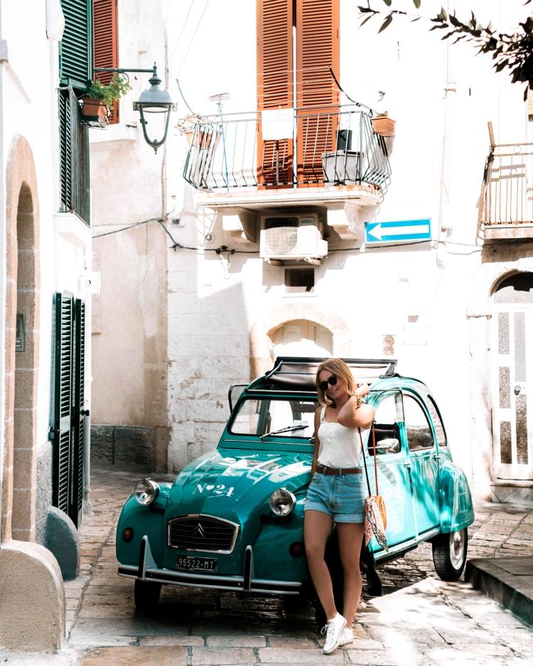 Vintage car in Monopoli, Puglia, Italy