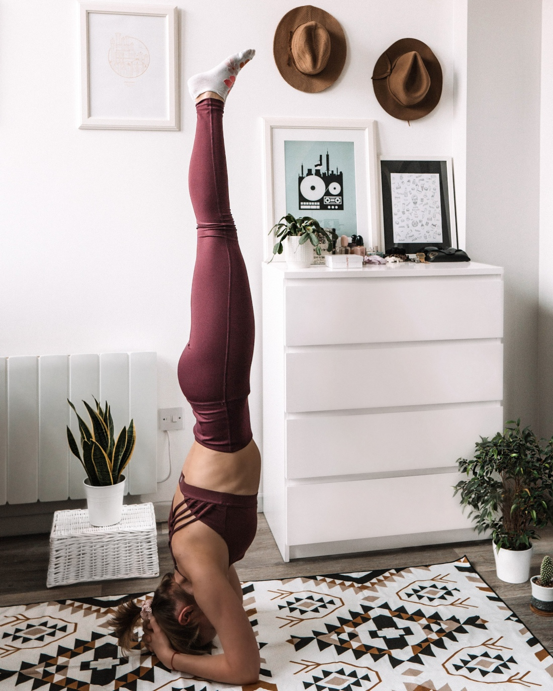 Yoga practice at home - things to do in lockdown