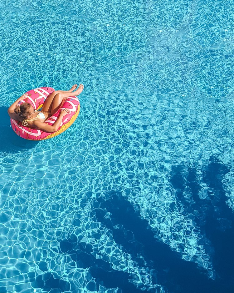 The future of travel - social distancing in the swimming pool