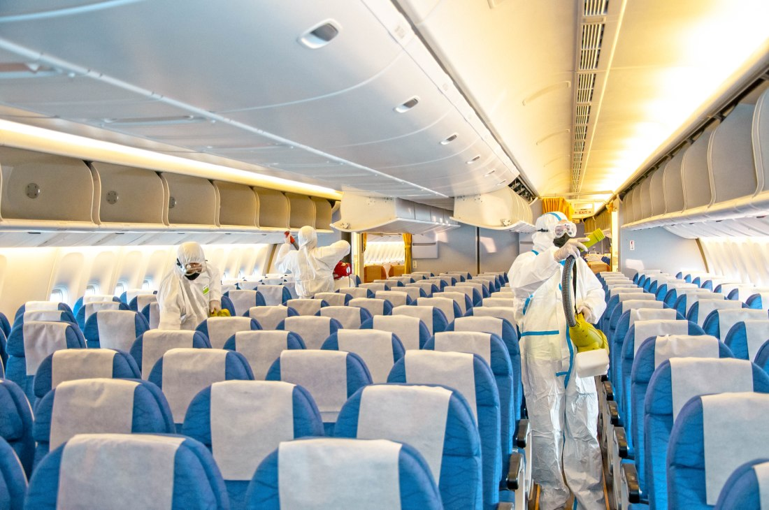 Plane disinfection - the future of travel