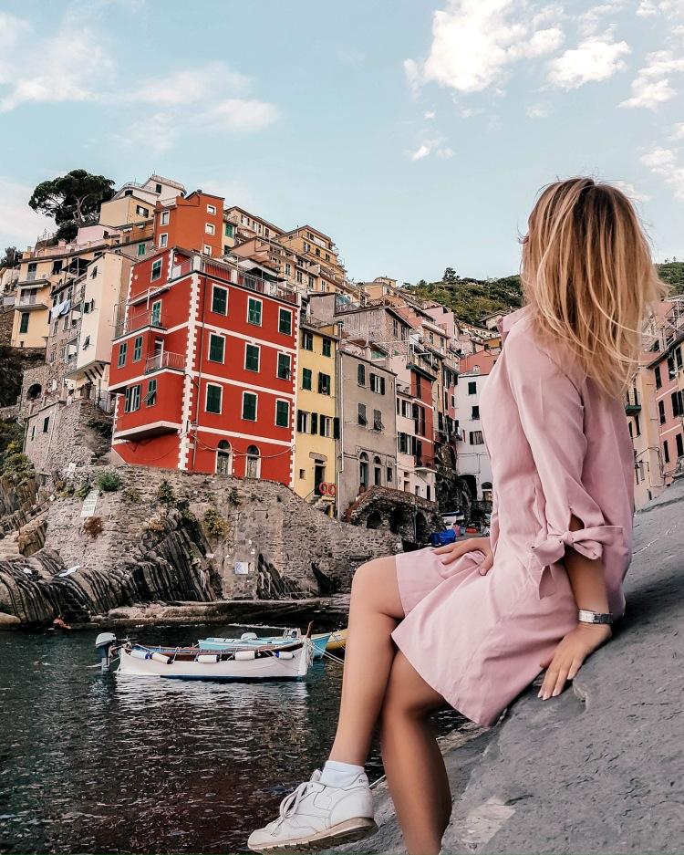 View of Riomaggiore in Cinque Terre, Italy
